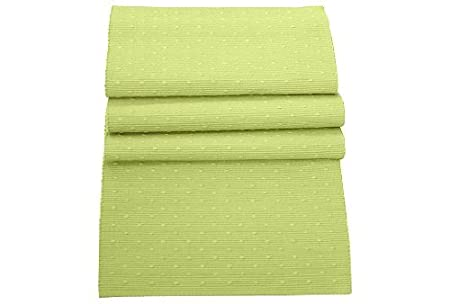 Superbe 100% Cotton Soft Lime Green Table Runner