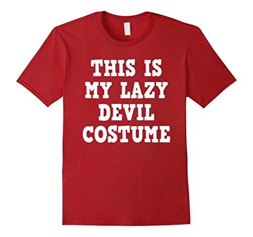 Devil Costume For Men - Mens Halloween Devil Demon Costume Funny Tshirt - Men Women Kids Medium Cranberry