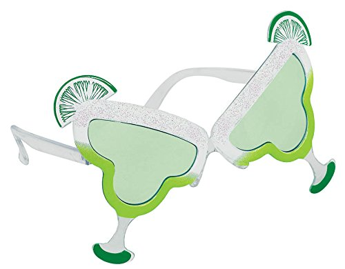 Lime Wedge Costumes (Party Ready Lime Margarita Funshades Accessory, Plastic, Standard Size)