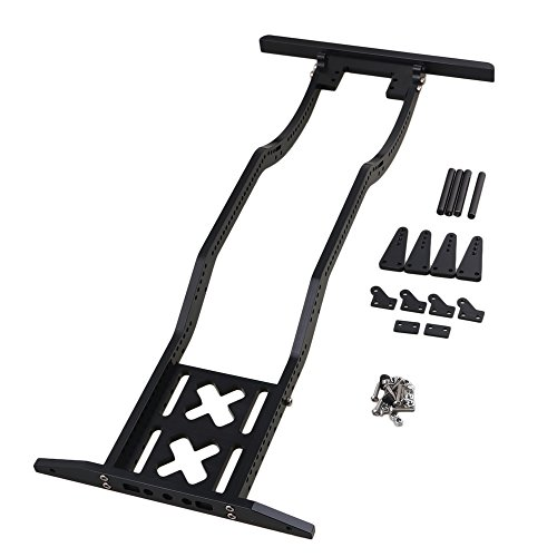BQLZR 17 x 7.7 x 1.6Inch Black Alumimum Alloy Upgrade Parts RC1:10 Rock Crawler Car Chassis Frame for AXIAL SCX10 RC4WD D90 (Chassis Frame)