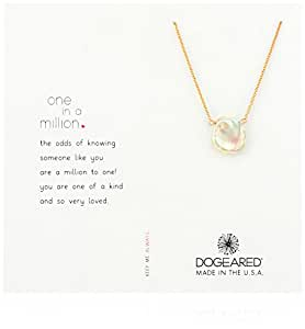 "Dogeared Rose Gold One In A Million Keshi Pearl Chain Necklace, 18""+2"" Extender"