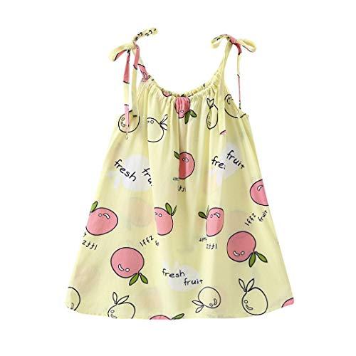 iOPQO Halloween Skirt for Kids, Cartoon Girl Strap Casual Party Princess Dress -