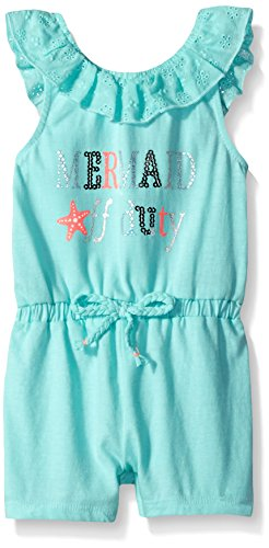 Little Lass Baby Girls' 1 Pc Slub Jersey Romper, Beach Glass, - Glasses With Lasses