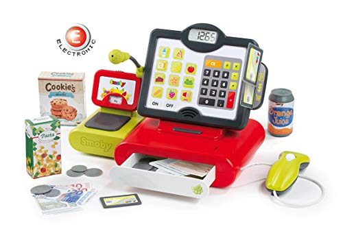 (Smoby 350103WEB Electric Cash Register Red)
