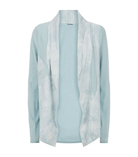 Elie Tahari Caleigh Mint Blue Suede Mixed Media Jacket (S)