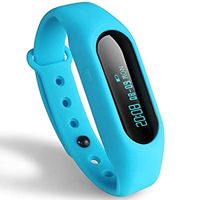 Next-shine Smart Bracelet/Fitness Tracker/Pedometer Activity Watch Live Waterproof with Incoming Call Remind for Andriod and iOS Phone,Sky Blue