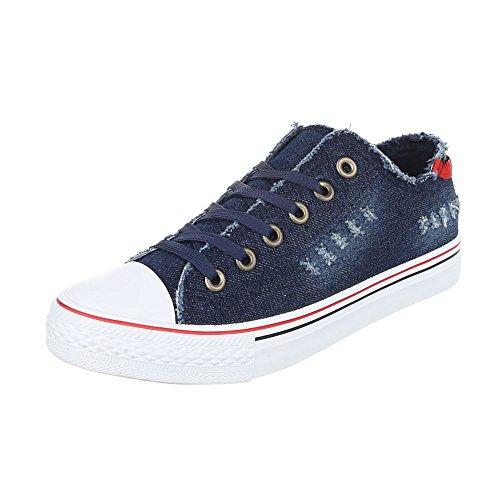 Ital-Design - Zapatillas de casa Mujer Dunkelblau 6327-Y