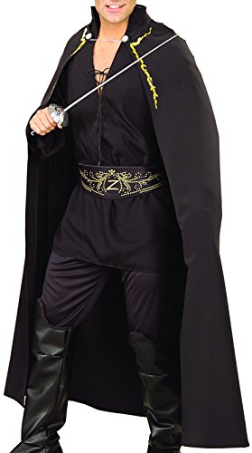 Rubie's Costume Co Men's Zorro Adult Deluxe Cape, Black, One Size