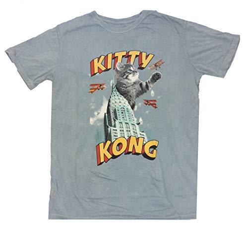 Kitty Kong Soft Hand Adult Short Sleeve T-Shirt-Large Light -