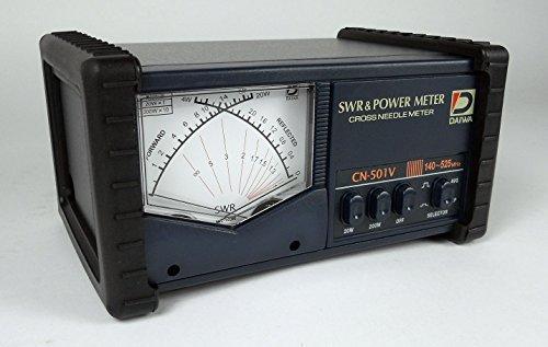 DAIWA CN-501V 140-525 MHz CROSS-NEEDLE SWR/POWER METER W/ (Cross Needle)