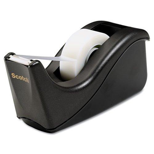 (3 Pack Value Bundle) MMMC60BK Value Desktop Tape Dispenser, 1'' core, Two-Tone Black