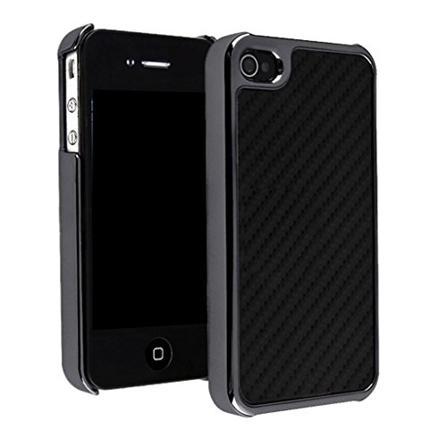 Nouveau iPhone 4 4s Fibre de carbone et Metalic Effet clip on Dur Coque couverture case cover Pare-chocs par Mobile Case Mate