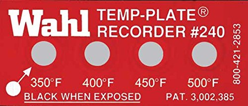 Pack of 10 400 Inc. Wahl Instruments 240-351F Standard Four-Position Temp-Plate 350 450 and 500 degrees F