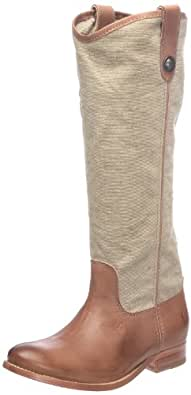 FRYE Women's Melissa Button Knee-High Boot (Khaki/Tan, 5.5)