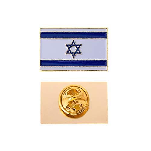 (Desert Cactus Israel Country Rectangle Flag Lapel Pin Enamel Made of Metal Souvenir Hat Men Women Patriotic Israeli (Rectangle Pin))