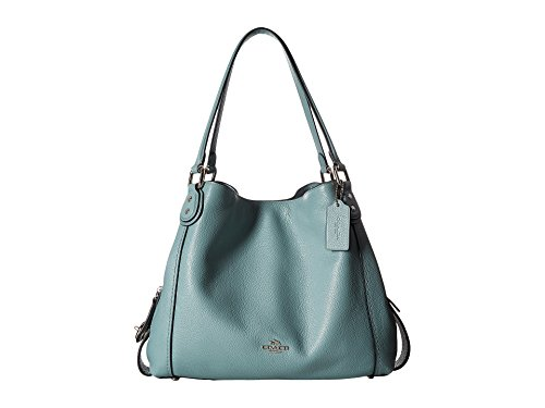 COACH Women's Pebbled Leather Edie 31 Shoulder Bag Sv/Cloud Handbag