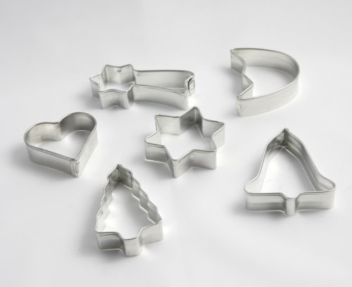 Menz Ausstechformen Weihnachten, 6 Stück, Weißblech, 16 mm hoch - Qualitätsprodukt MADE IN GERMANY - Kostenlose Lieferung