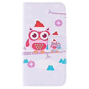 Owl PU Leather Wallet Full Body Case with Stand and Card Slot for Samsung Galaxy S6 Edge G925
