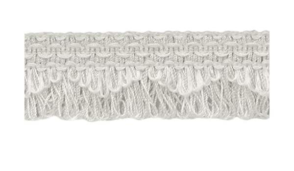 Flecos Decorativos Blancos festoneados, 4 cm, Estilo #9115, Color: A1 (A01) (se Vende por el Patio (1 Yarda=91 cm/3 pies/36 Pulgadas): Amazon.es: Jardín