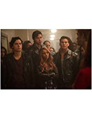 Riverdale Cole Sprouse as Jughead Vanessa Morgan as Toni Drew Ray Tanner as Fangs Jordon Connor as Sweet Pea and K.J. Apa as Archie 8 x 10 Inch Photo