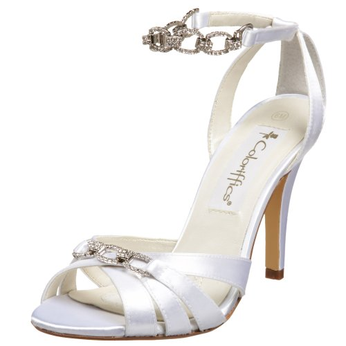 Coloriffics Metallic Sandals - Coloriffics Women's Trista Sandal,White,6 M US