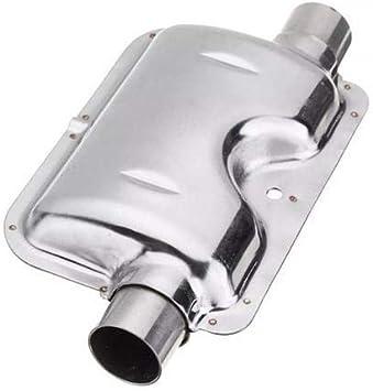 Fyblossom Edelstahl Abgasschlauch Schalldämpfer Set Auspuffrohr Gas Entlüftungsschlauch Schalldämpfer Für Autos Luft Diesel Heizung 120cm Auto
