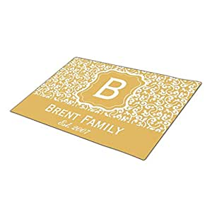 Hey alfombra U oro personalizado Felpudo