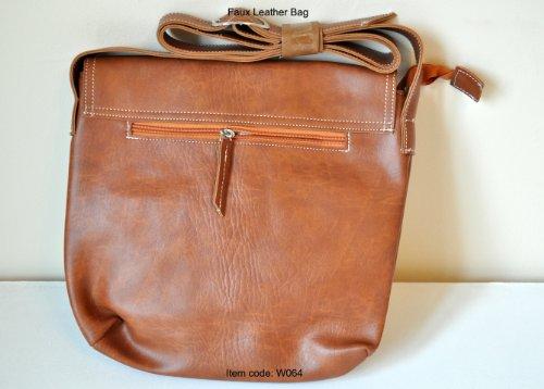 Unisex Urban Faux Crossbody Bag Leather Totte Colour Shoulder Bag Brown Bag nSTRZSpq