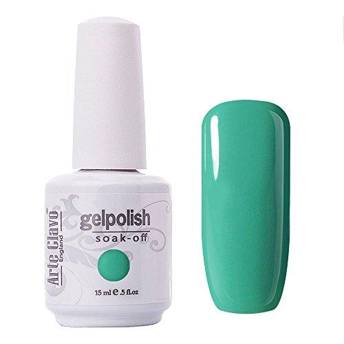 Arte Clavo Turquoise Green Nail Gel Polish Harmless Resin Professional Lacquer Soak Off Nail Art UV Lamp & LED ()