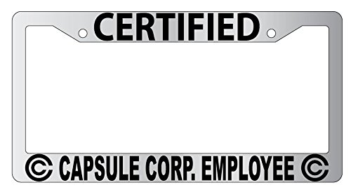 Certified Capsule Corp Employee High Quality Chrome Metal License ...