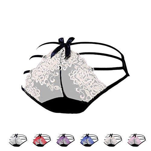 Bragas transparentes del vendaje de las mujeres atractivas Bajo ropa interior de los escritos de las se?oras del bordado de la cintura color de piel