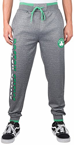 fan products of NBA Men's Boston Celtics Jogger Pants Active Basic Bounce Fleece Sweatpants, X-Large, Gray