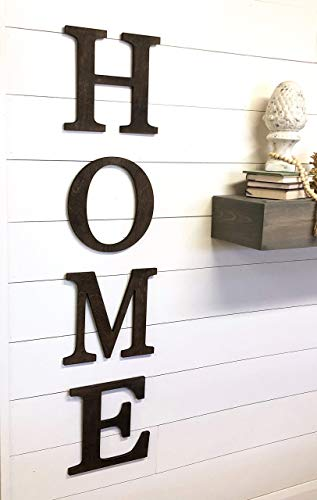 HOME Sign Large Wood Letter Cutouts (Home Wall Letters)