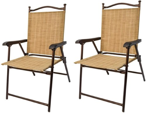greendale home fashion outdoor sling back chairs set of 2