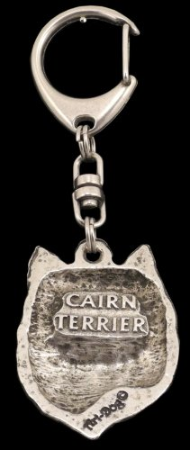 Cairn Terrier (Front), Silver Hallmark 925, Silver Dog Keyring, Keychain, Limited Edition, Artdog by Art Dog Ltd. (Image #1)