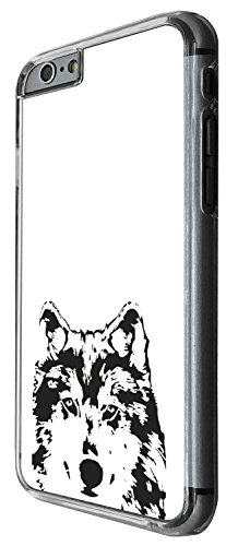 1490 - Cool Fun Trendy wolf colourful animals wildlife woods whimsical black and white Design iphone 5C Coque Fashion Trend Case Coque Protection Cover plastique et métal - Clear