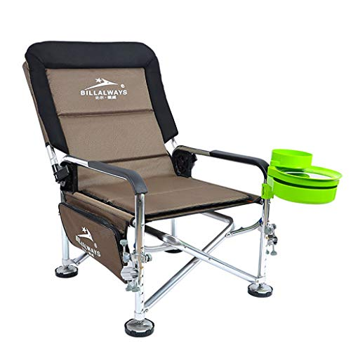 Milisome World Outdoor Ultra-Light Portable Folding Stool Back Fishing Chair Beach Comfortable Lounge Chair Oxford Cloth Director Chair ()