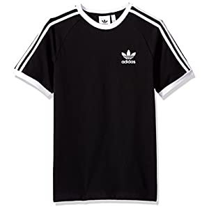 adidas Originals Men's Originals 3 Stripes Tee, Black, XL