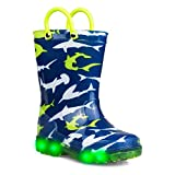 ZOOGS Kids Light-up Rainboots, Waterproof, Pull Handles, Fun Colors