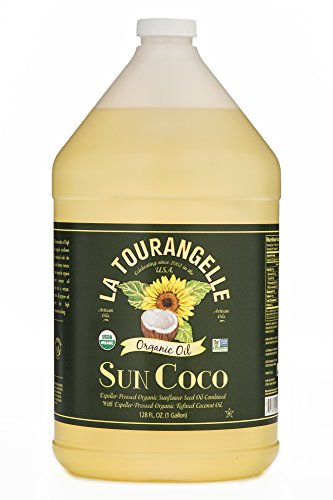 Price comparison product image La Tourangelle Organic Sun Coco Oil 128 Fl. Oz.,  Neutral Flavor & High Smoke Point,  Blend of Organic Sunflower Oil and Organic Coconut Oil