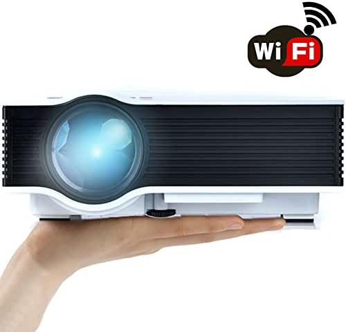 WiFi Wireless Projector (Warranty Included), Support HD 1080P Video, ERISAN Updated Full Color Max 130