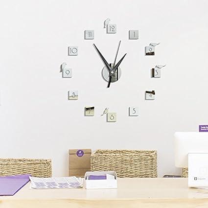 93e49a31f81 DIY Large Wall Clock Modern Design 3D Mirror Wall Stickers Bird Circle  Acrylic Mirror Sticker Watch