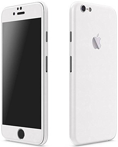 VCAREGADGETS White Matte Skin Back  amp; Sides Compatible for Apple iPhone 6Plus /6s Plus
