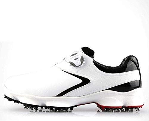 ゴルフメンズスニーカー、靴ひもを回転、防水性と通気性のレジャースポーツワイドソール (Color : B, Size : 43EU)