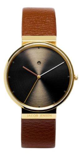 Jacob Jensen Reloj analógico para Hombre de Cuarzo con Correa en Piel Dimension Series Item NO.: 844