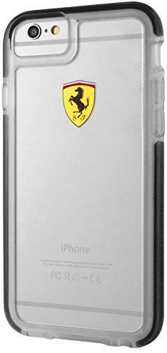 Ferrari Scuderia Shockproof Etui antichoc pour iPhone 6/6S Transparent/Noir