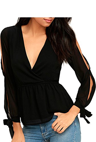 Blooming Jelly Womens Plunge Shoulder