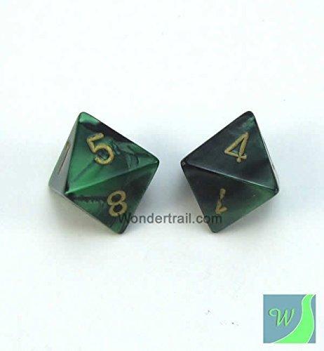 【日本未発売】 wcxpg0839e2ブラックandグリーンGemini mm Chessex Dice Withゴールド番号d8 Aprox ) 16 mm ( 5/ 8in ) Pack of 2 Dice Chessex B00VWWY592, modaMania:4a9f3f70 --- egreensolutions.ca