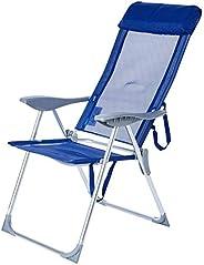Cadeira 5 Posições Textilene Alumínio - Azul Bel Fix Azul