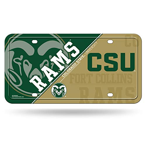 (NCAA Colorado State Rams Metal License Plate Tag )